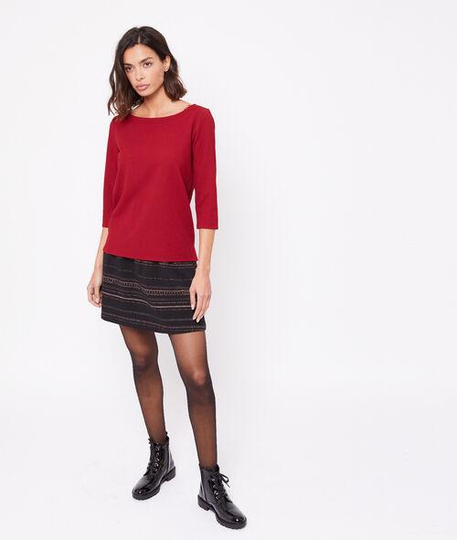 Metallic thread puffball skirt