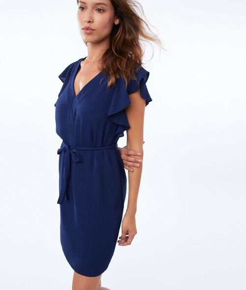 Flared dress with ruffles