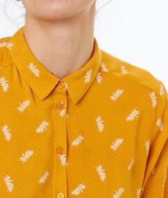 Printed shirt ochre.