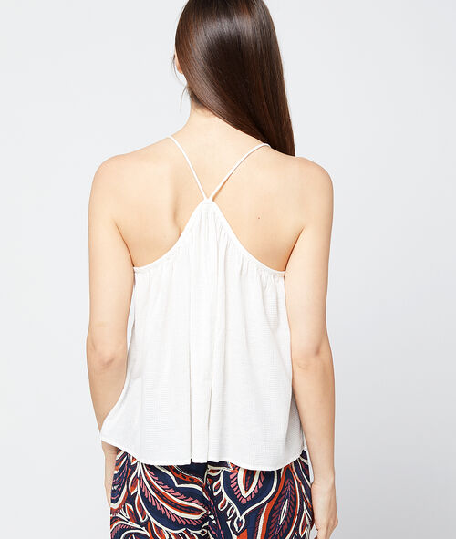 Thin straps cotton top