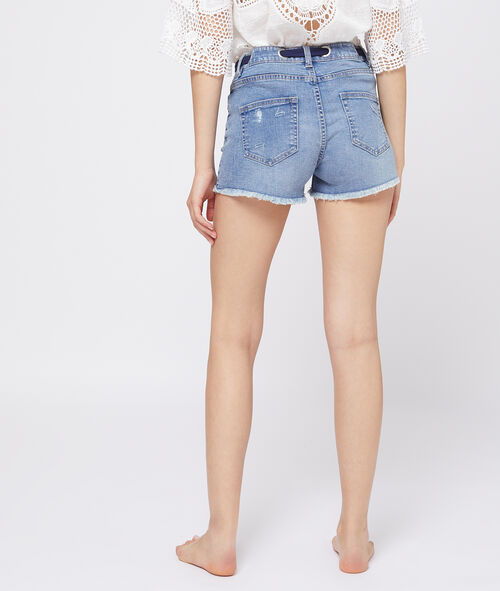 Scarf detailed shorts