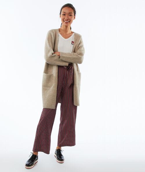 Longline cardigan with pocket