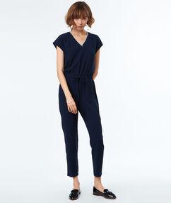 Formal jumpsuit navy blue.