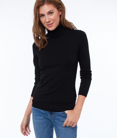 Sweater with turtleneck black.