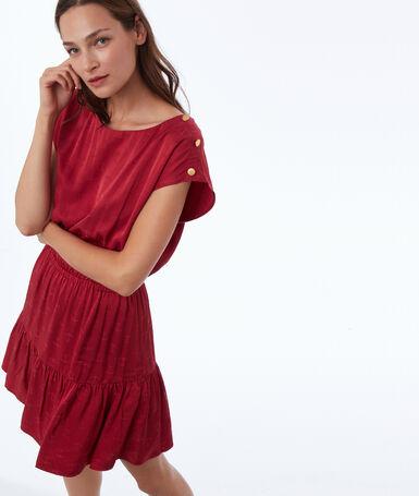 Ink jacquard dress raspberry.