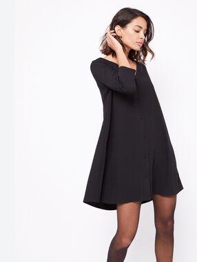 Robe dos dentelle noir.