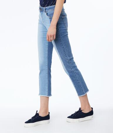 Straight leg jeans midwash blue.