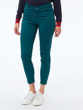 Slim-fit trousers forest.