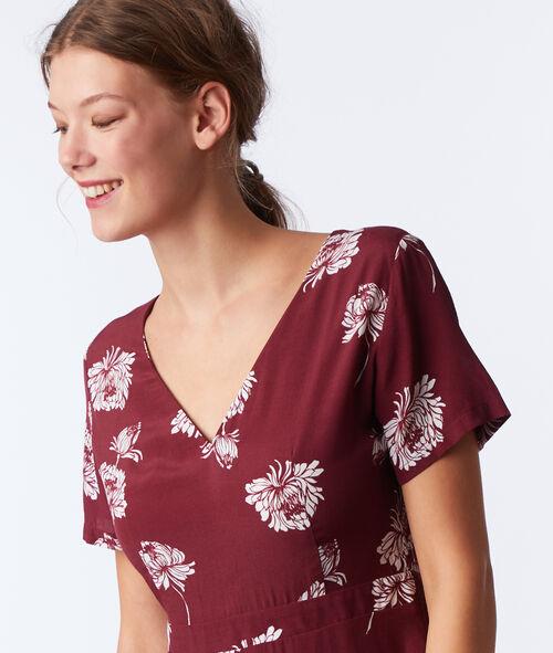 Floral wrap dress