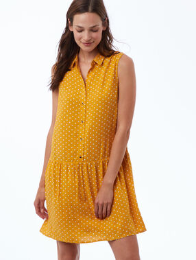 Vestido estampado de lunares c.miel.