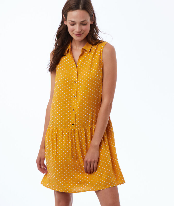 Polka dot print dress honey.