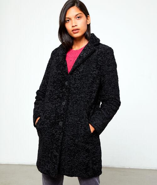 design de qualité b04d4 b27ab Manteau long effet peau lainée