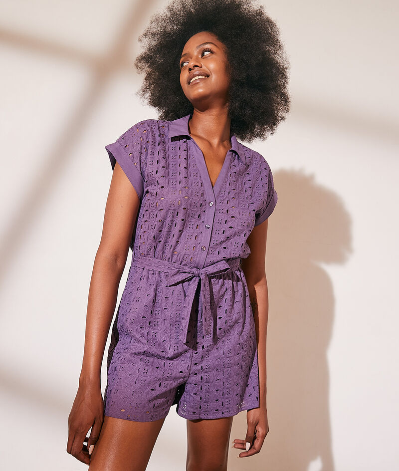 Broderie anglaise short suit