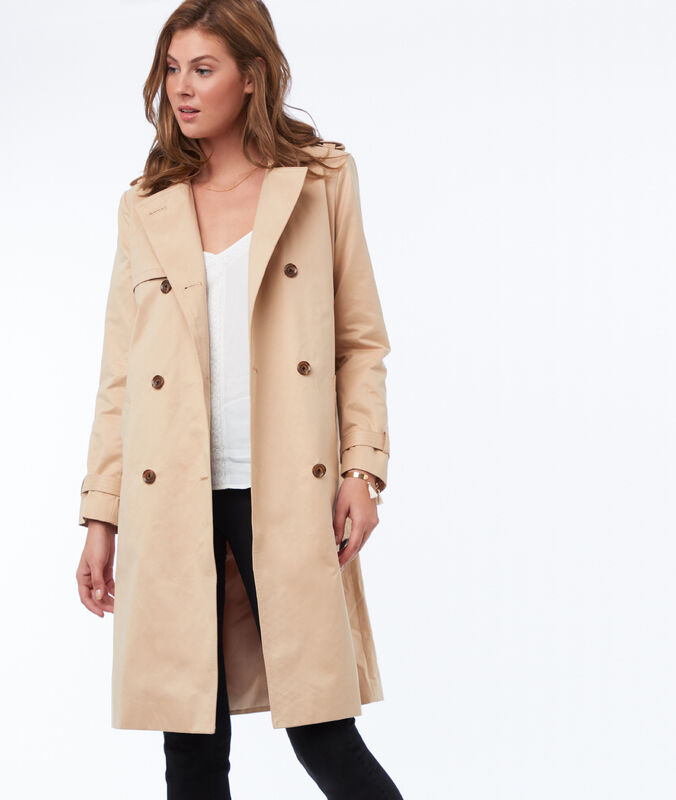 Belted trench coat beige.