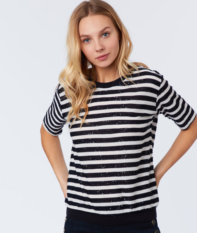 Striped t-shirt off-white.