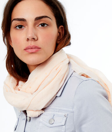 Printed scarf off-white.