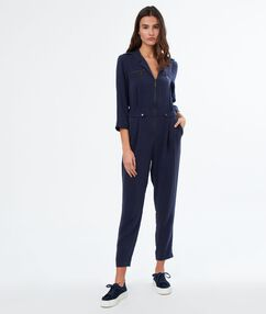 Jumpsuit navy blue.