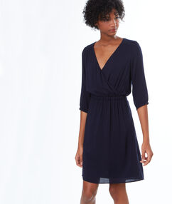 Flowing dress navy blue.