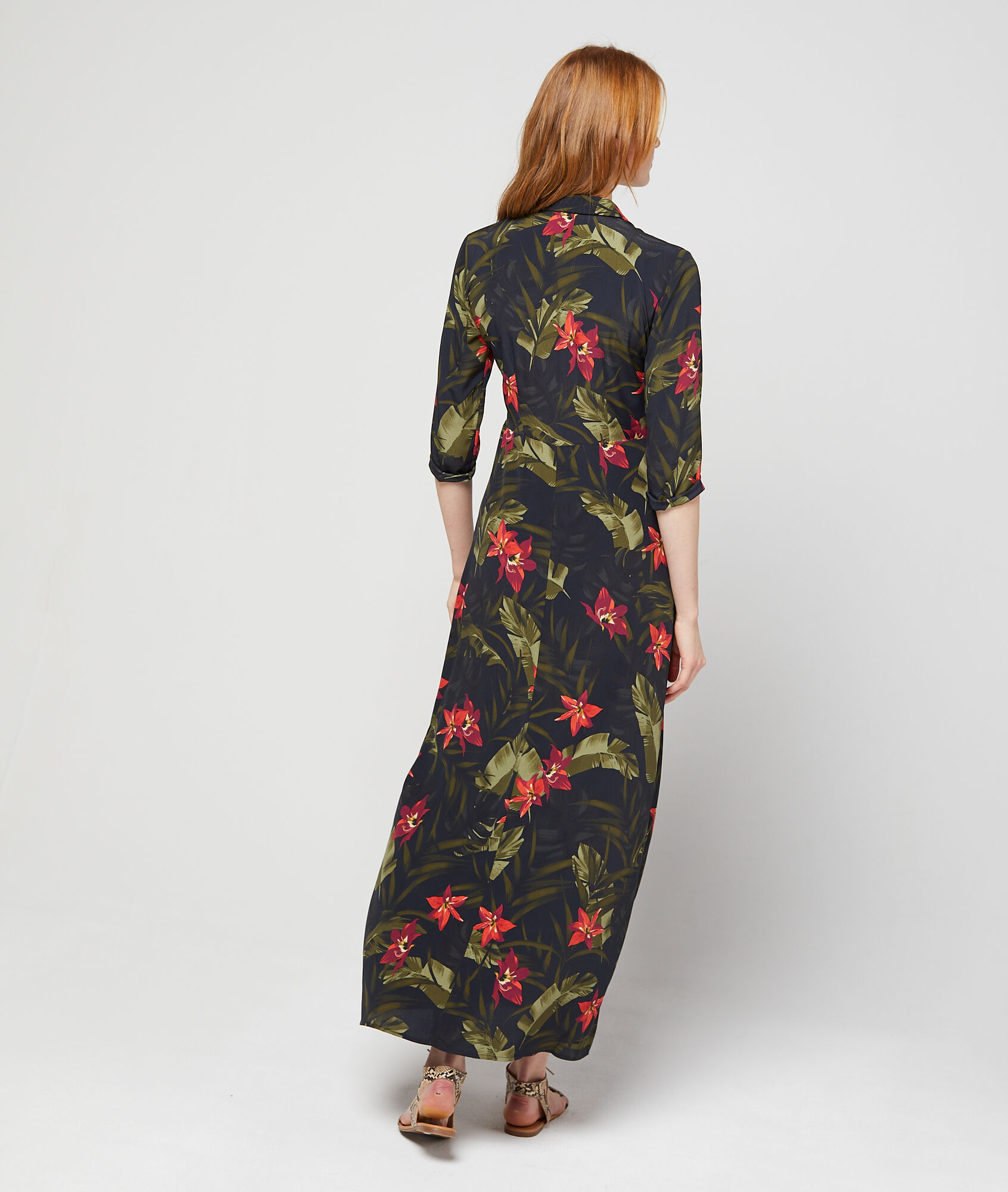 Floral Noir Imprimé Pasada Robe Chemise À Etam tshrdQC