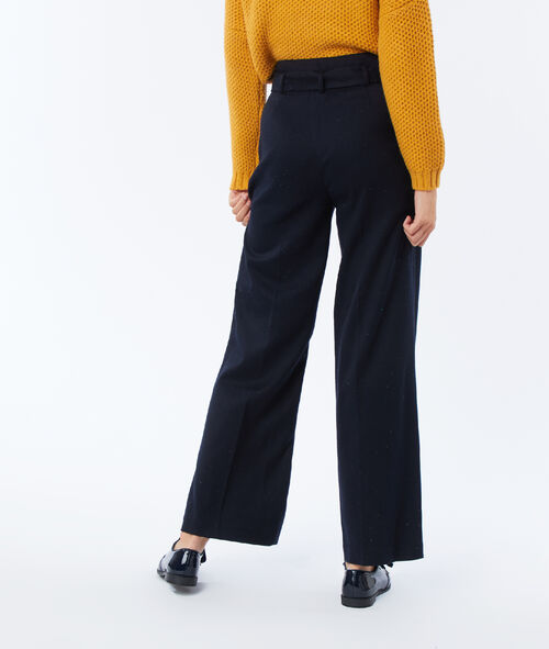High waist flare trousers