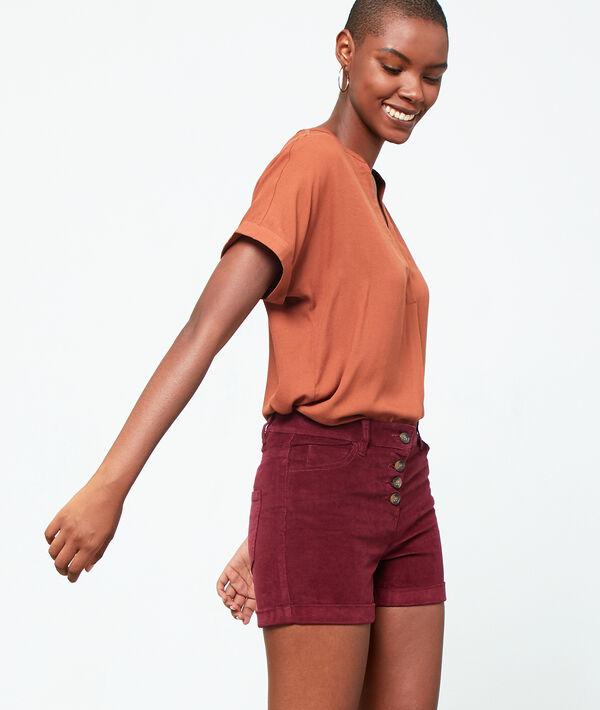 Velvet look shorts