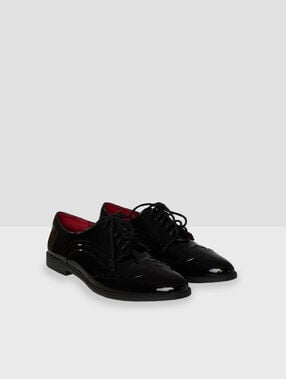Derbies vernies noir.