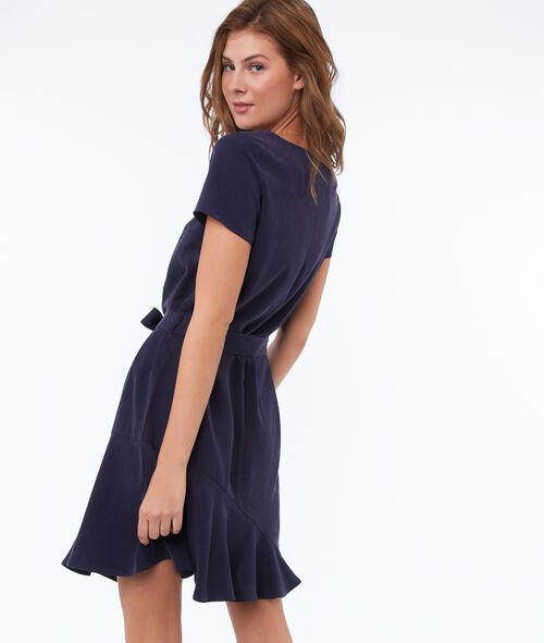 Plain dress with tencel® belt