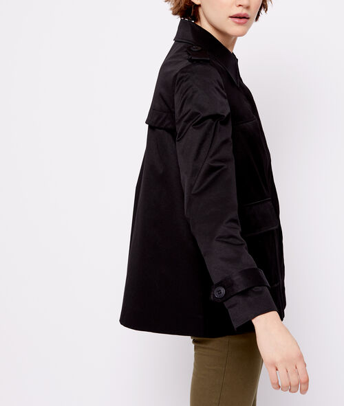 Button through cropped jacket