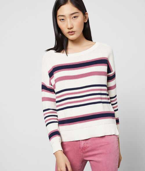 Stripe ribbed jumper