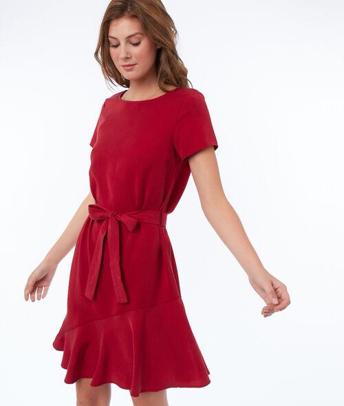Plain dress with tencel® belt