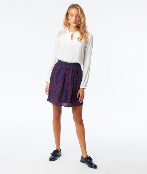 Leaves skater skirt