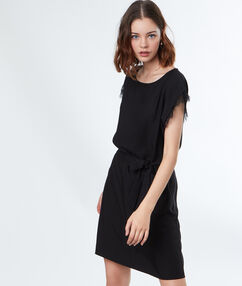 Waisted dress black.