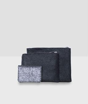 Trio de pochettes noir.