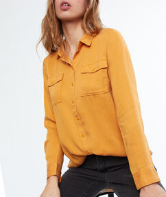 Shirt with pocket ochre.