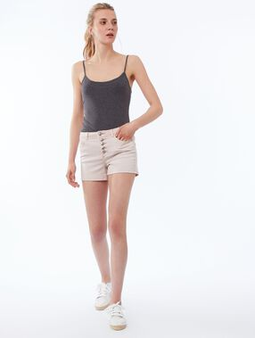 Button-up shorts nude.