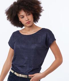 Round neck t-shirt navy blue.