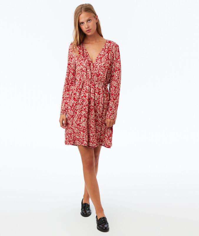 Print wrap dress poppy.
