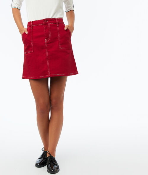 Skirt with patch pocket