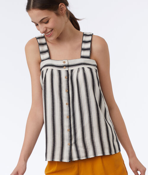 Button striped top