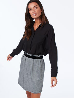 Belted skirt black.