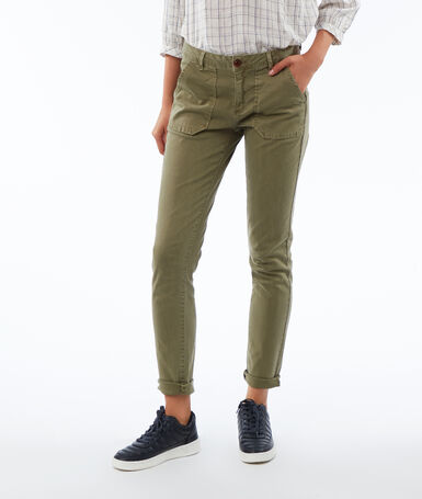 Slim-fit trousers khaki.