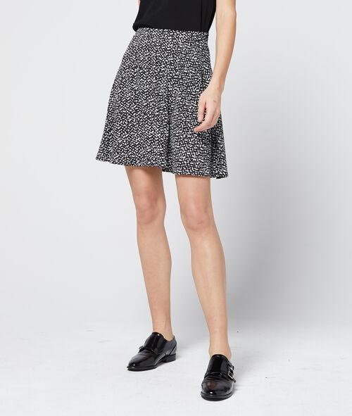 Color block skater skirt