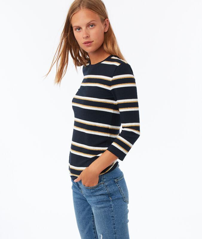 3/4 sleeve t-shirt navy blue.