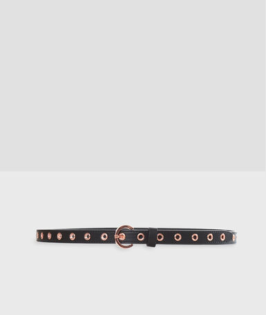 Belt with eyelets black.