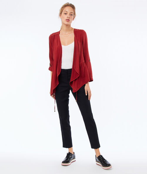 Tencel® shawl collar jacket