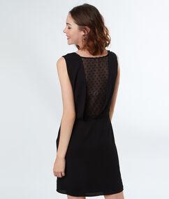 Tulle back dress black.