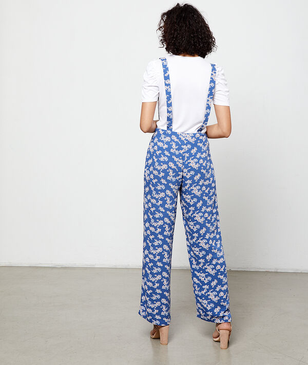 Wide leg trousers in a floral print