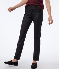 Pantalon noir effet enduit noir.