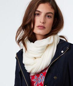 Plain scarf ecru.