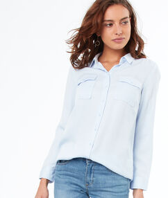 Shirt light blue.